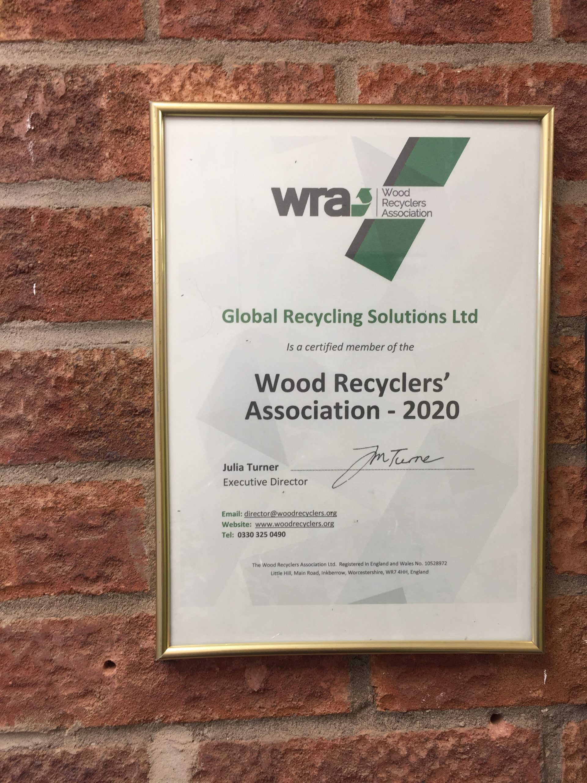 Wood Recyclers' Association – 2020